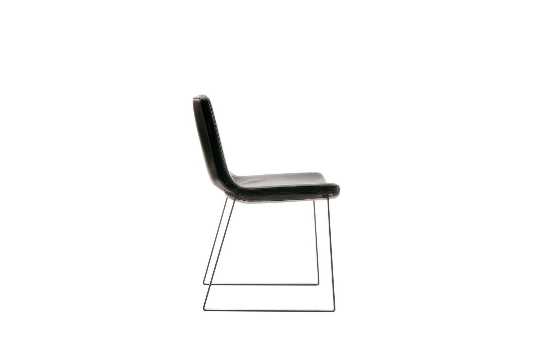 Metropolitan Chair with Sled Base by Jeffrey Bernett for B&B Italia