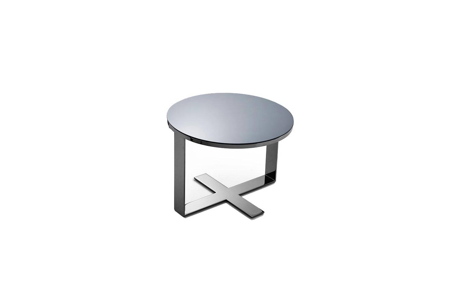 Eileen Side Table in Bronzed Reflective Glass by Antonio Citterio for B&B Italia