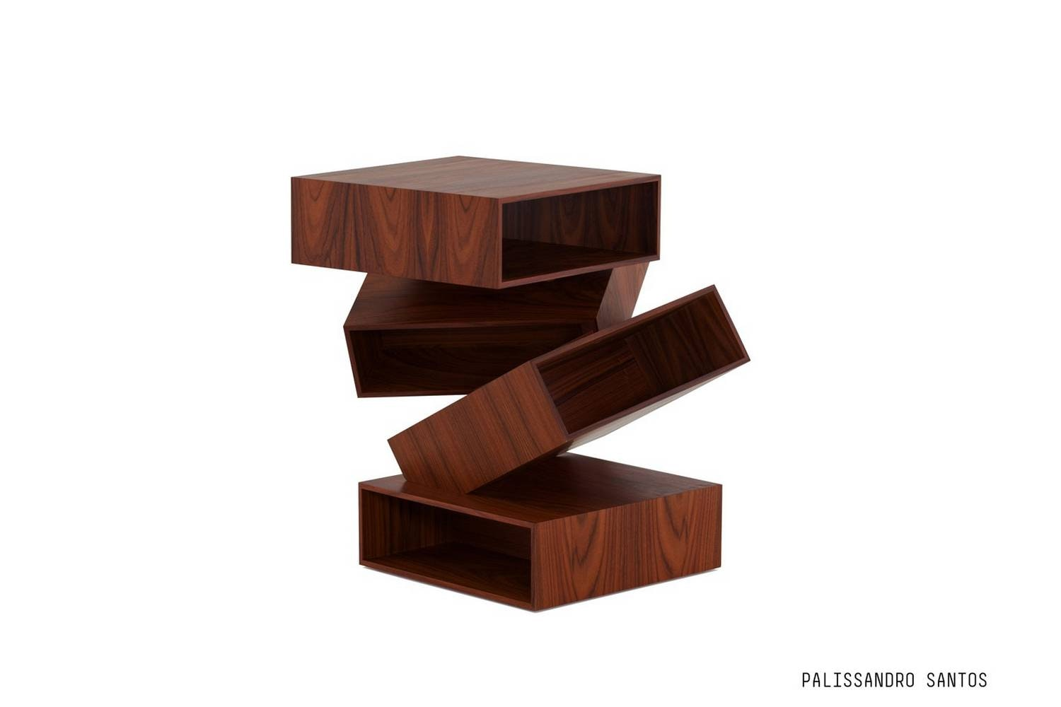 Balancing Boxes Side Table by Front for Porro