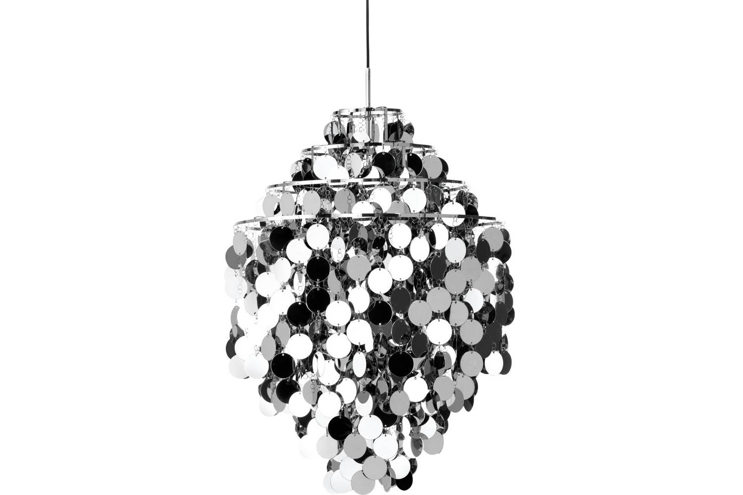 Fun Metal 0DA Pendant Lamp by Verner Panton for Verpan