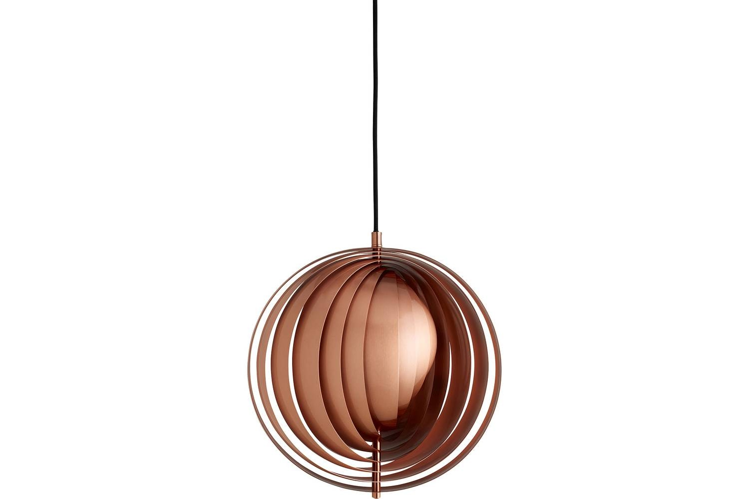 Moon Small Suspension Lamp in Copper by Verner Panton for Verpan