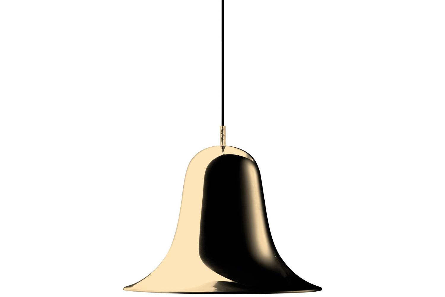 Pantop Pendant in Brass by Verner Panton for Verpan