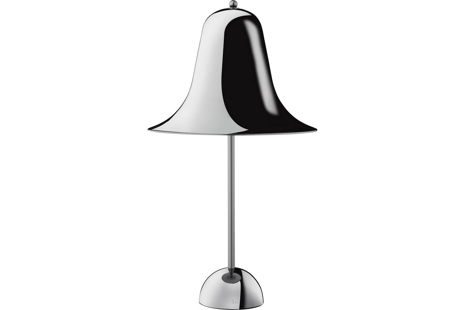 Pantop Table Lamp in Black Chrome by Verner Panton for Verpan