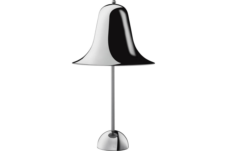 Pantop Table Lamp in Black Chrome by Verner Panton for Verpan
