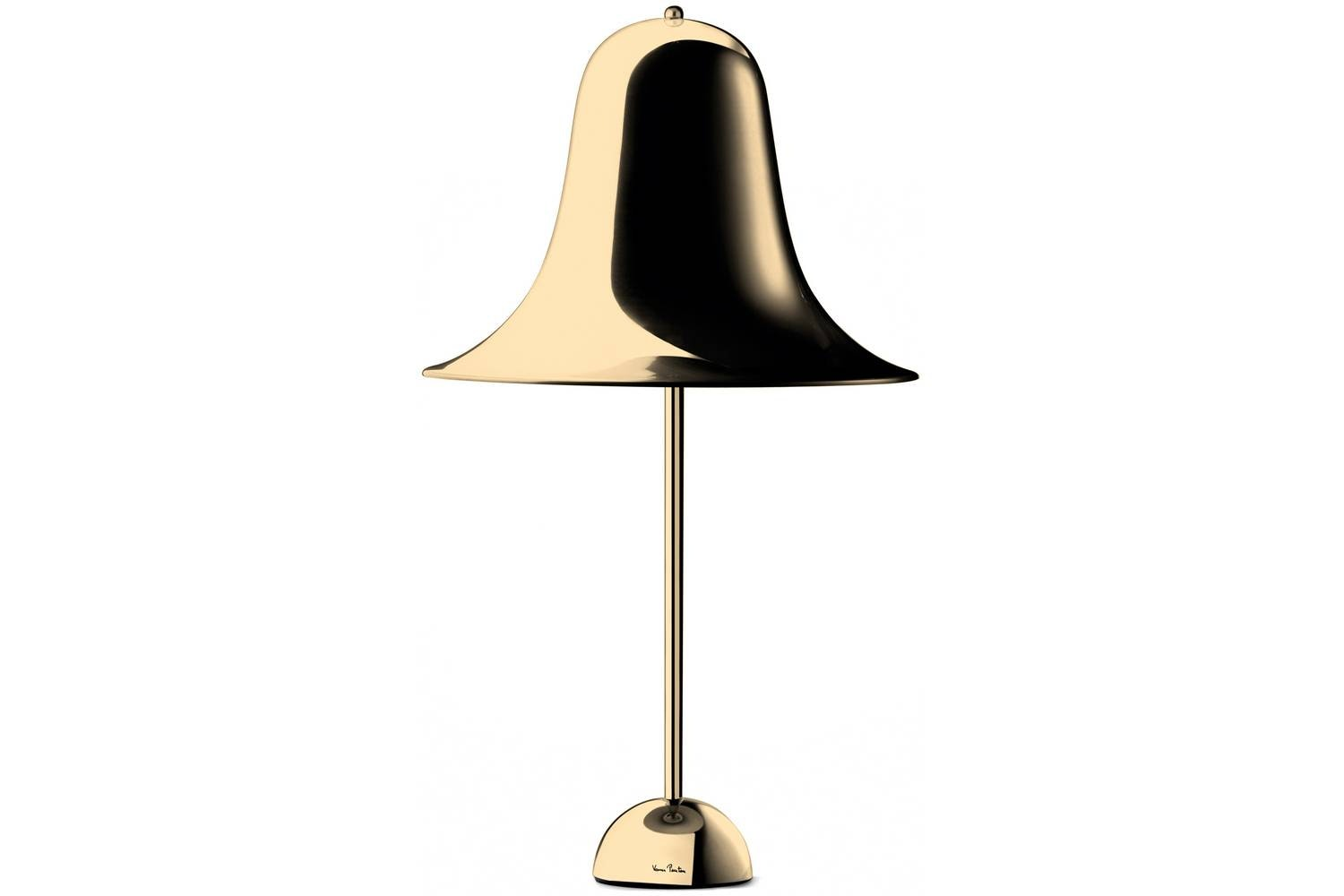 Pantop Table Lamp in Brass by Verner Panton for Verpan