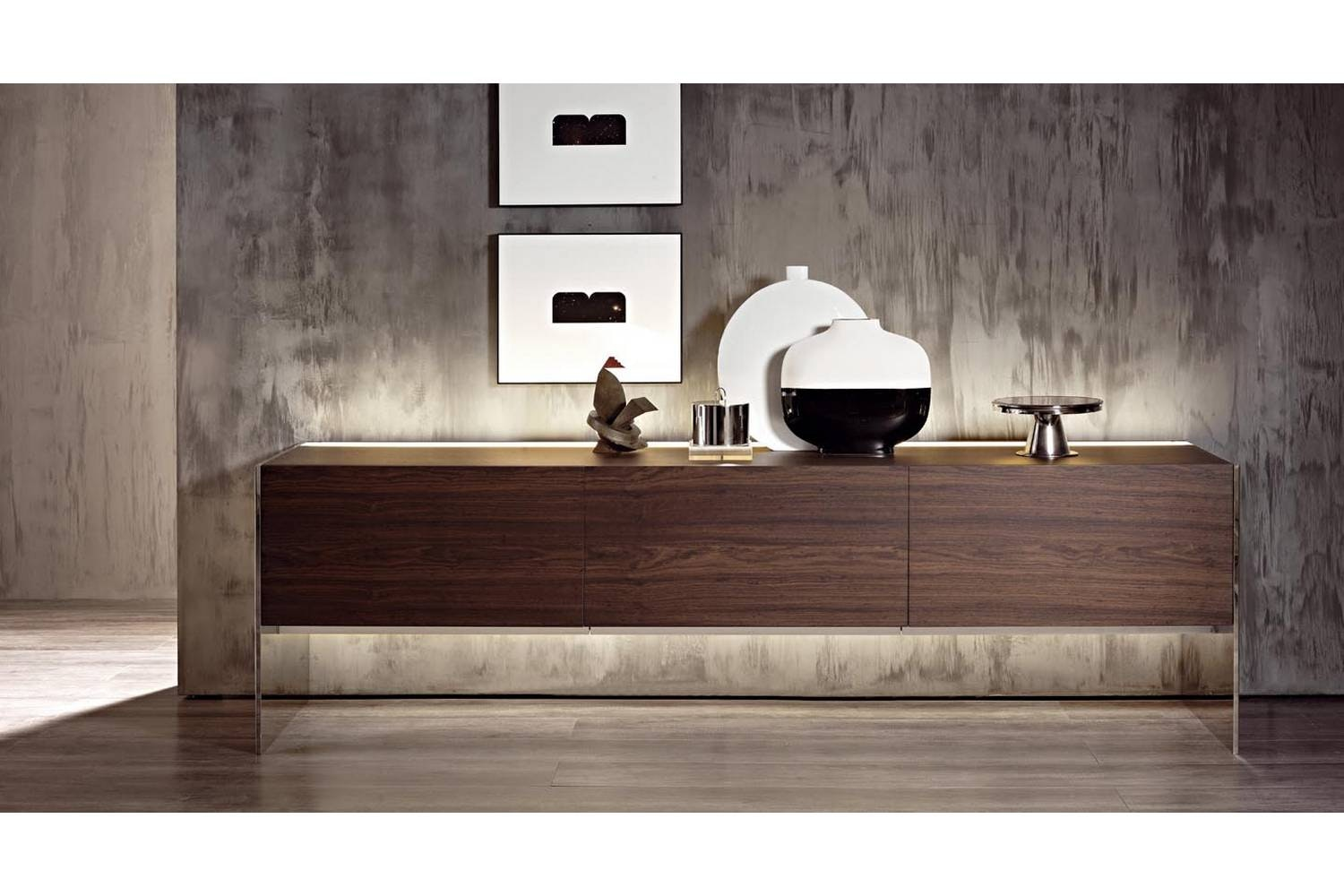 Steel Sideboard by Lodovico Acerbis, Gabriele Buratti for Acerbis