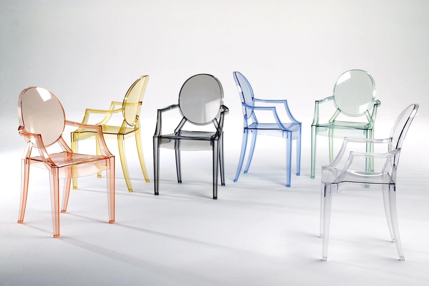louis ghost chair with arms by philippe starck for kartell | space