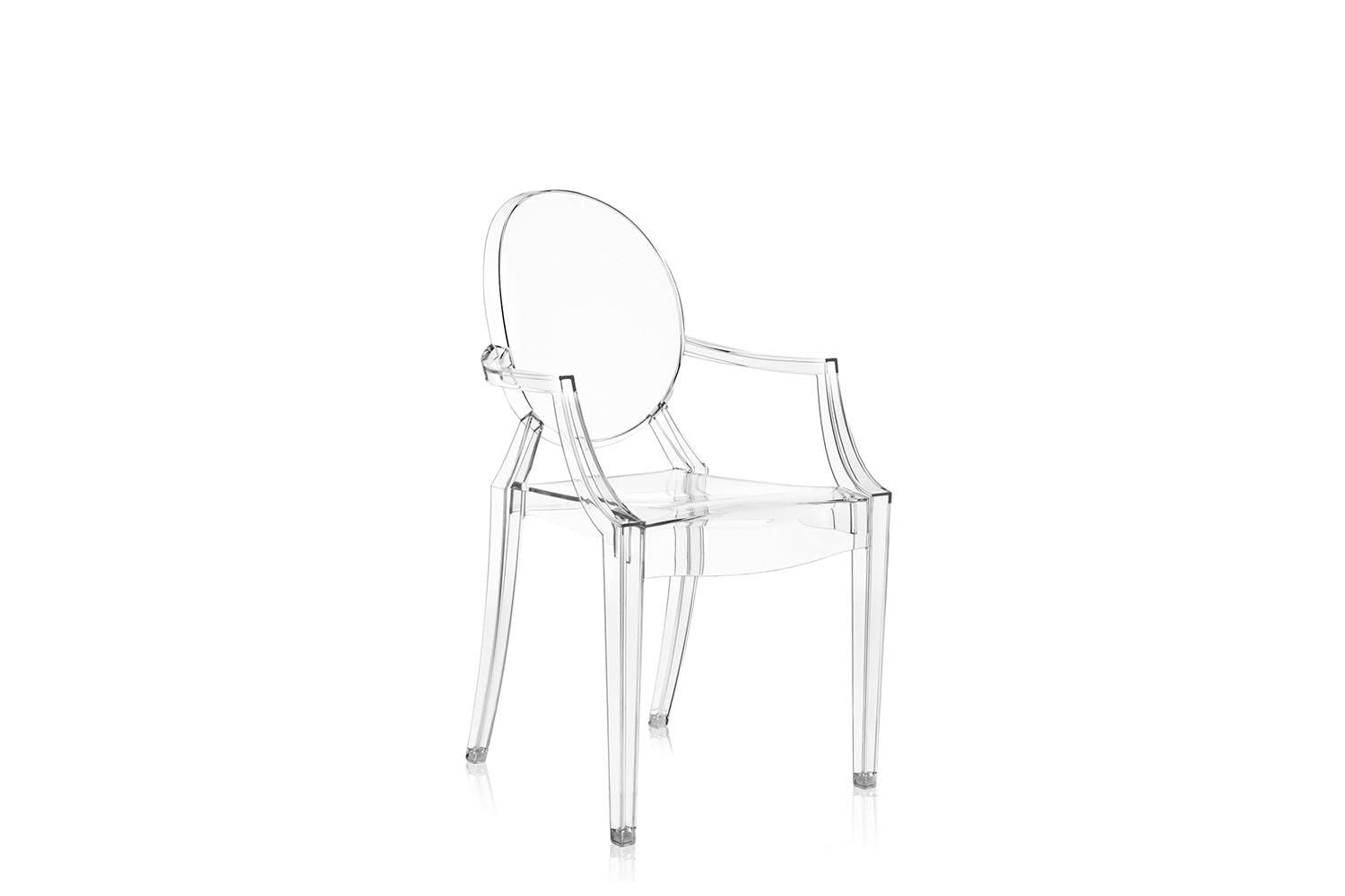 louis ghost chair with arms by philippe starck for kartell space furniture. Black Bedroom Furniture Sets. Home Design Ideas