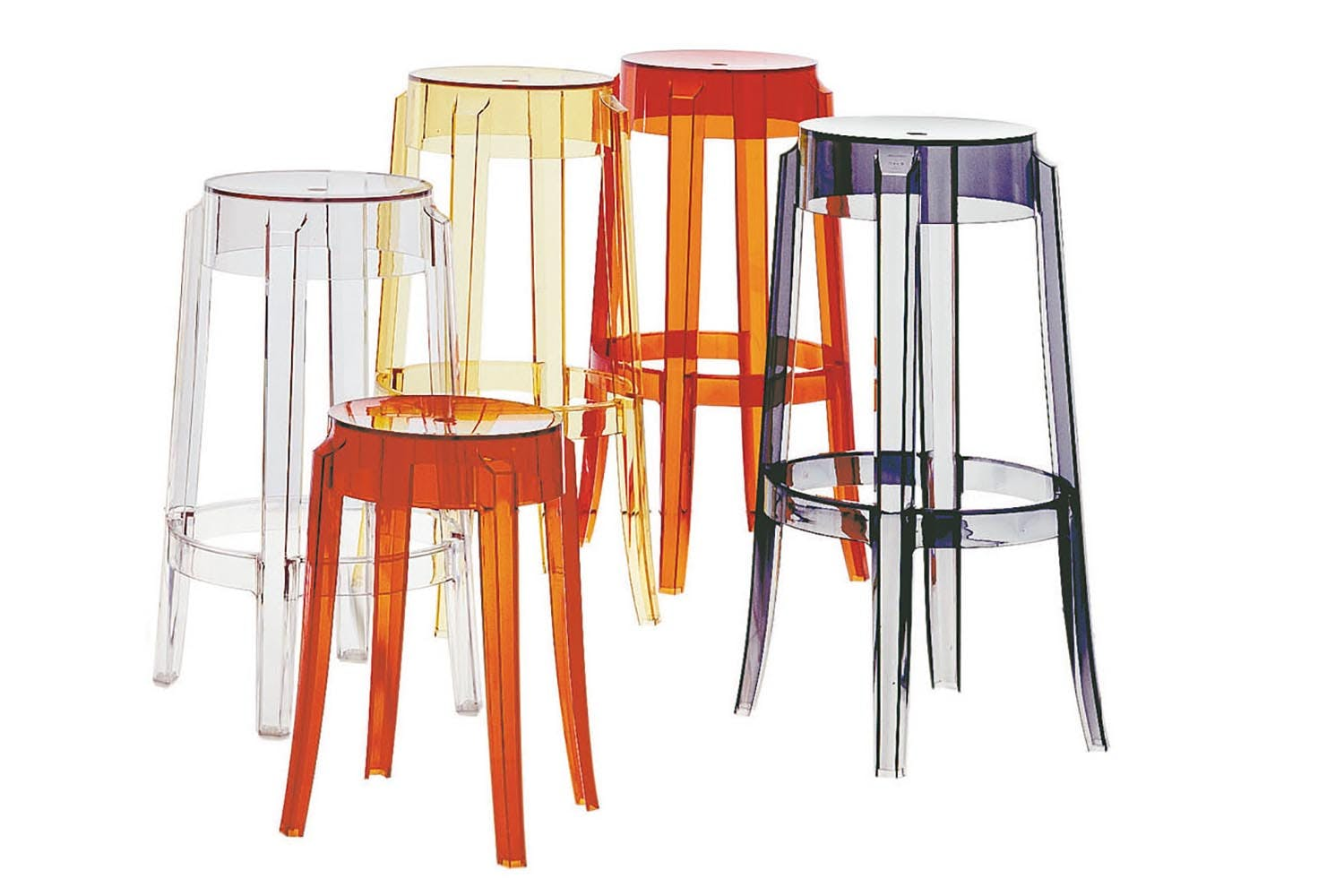 charles ghost low stool by philippe starck for kartell  space  - share