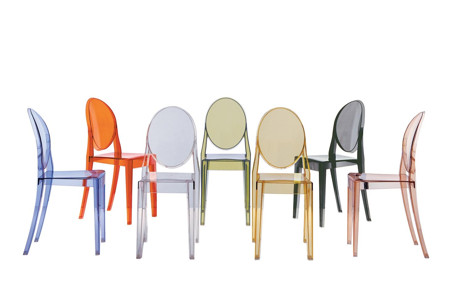 victoria ghost chair by philippe starck for kartell  space furniture - share