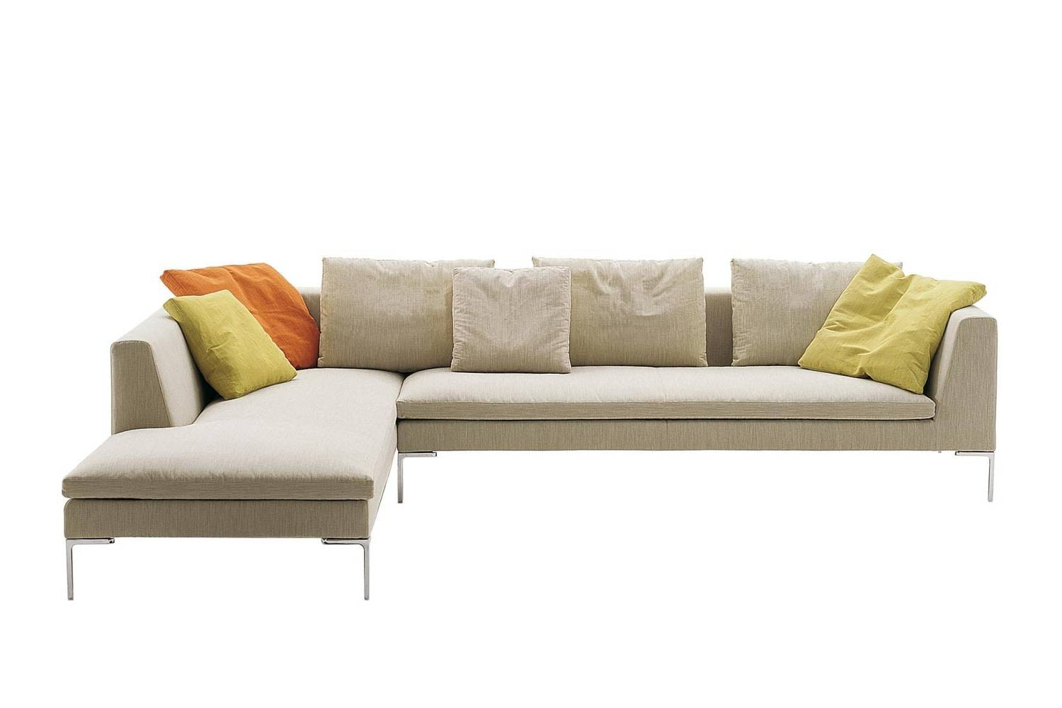 Charles Sofa with Long Left Chaise - Fabric by Antonio Citterio for B&B Italia