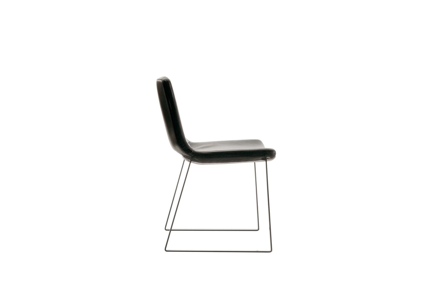 Metropolitan Chair with Sled Base by Jeffrey Bernett for B&B Italia