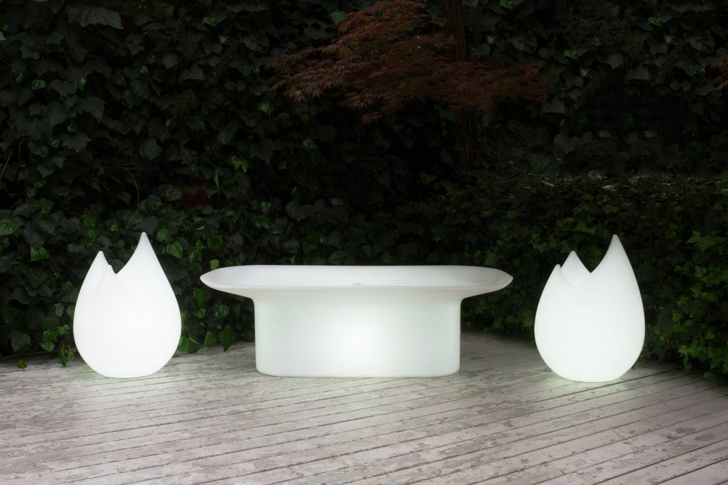 Luba Bench with Light by Ionna Vautrin for Serralunga