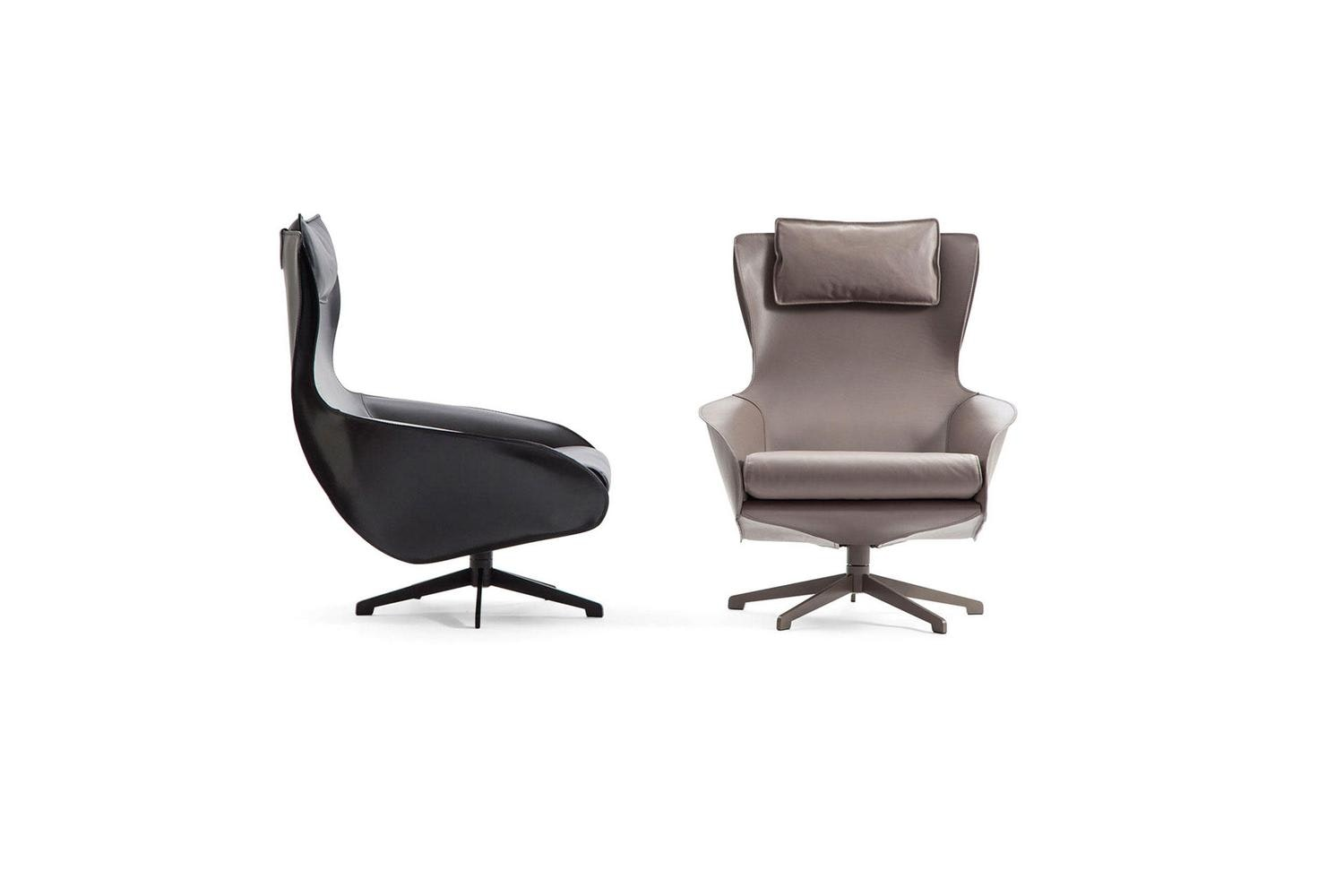 423 Cab Lounge Armchair by Mario Bellini for Cassina