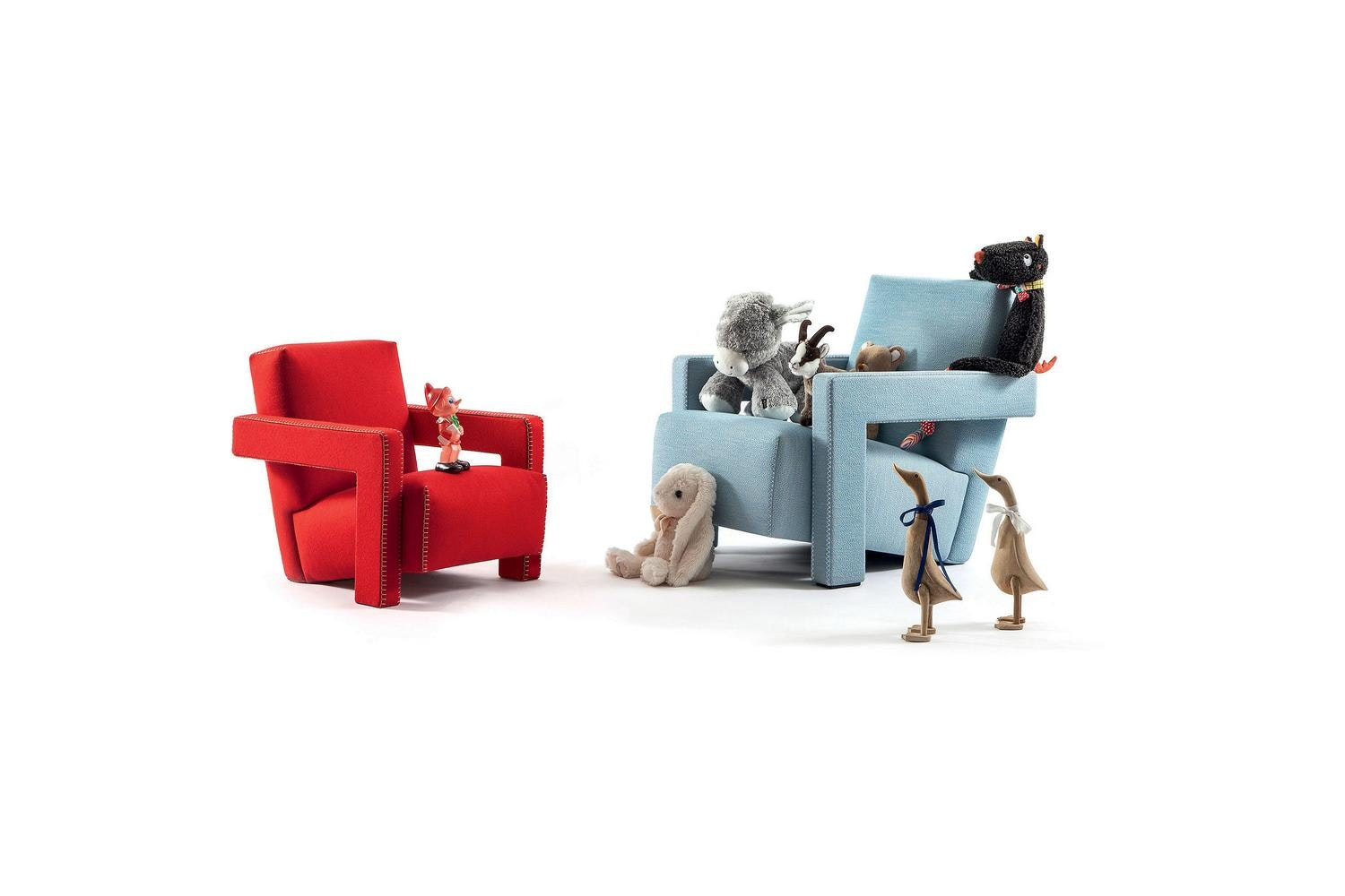 637 Baby Utrecht Armchair by Gerrit Thomas Rietveld for Cassina