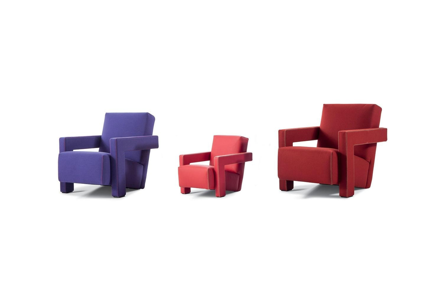 637 Utrecht XL Armchair by Gerrit Thomas Rietveld for Cassina