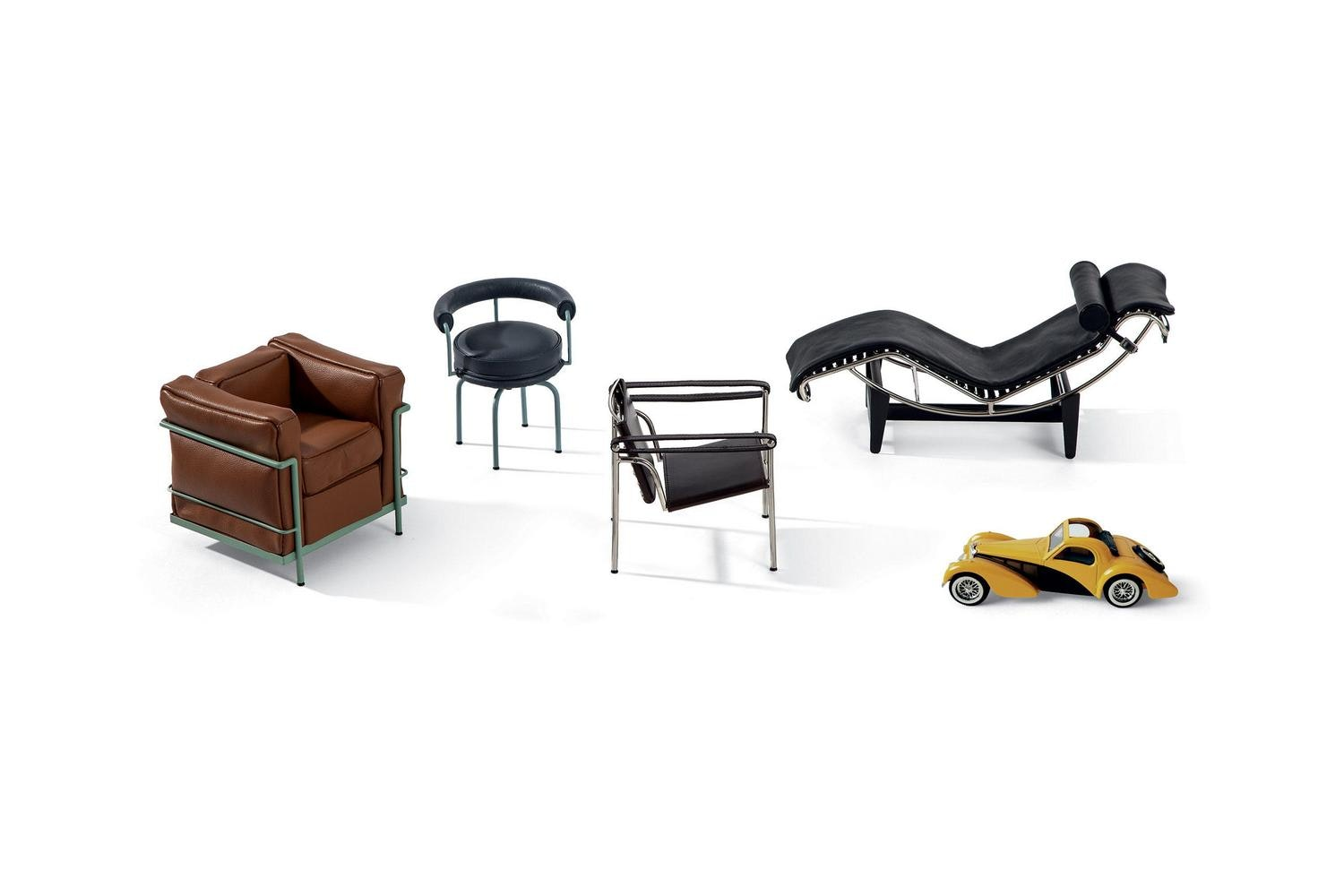"082 LC Collection ""Le miniature"" by Le Corbusier, Pierre Jeanneret and Charlotte Perriand for Cassina"