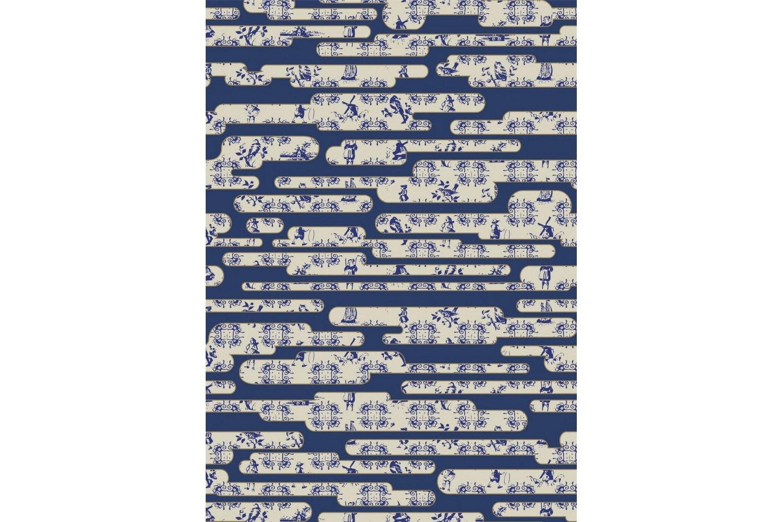 Dutch Sky Blue Rug by Edward van Vliet for Moooi Carpets
