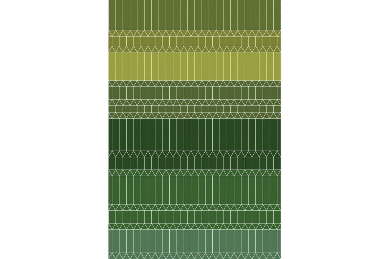 Zigzag Green Rug by Edward van Vliet for Moooi Carpets