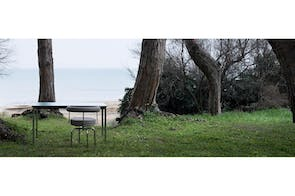 LC10-P Outdoor Table by Le Corbusier, Pierre Jeanneret, Charlotte Perriand for Cassina
