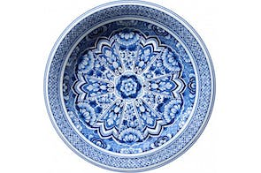 Delft Blue Plate Rug by Marcel Wanders for Moooi Carpets