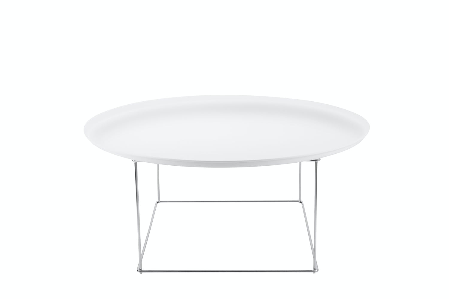Fat-Fat Large Coffee Table - Chrome Frame