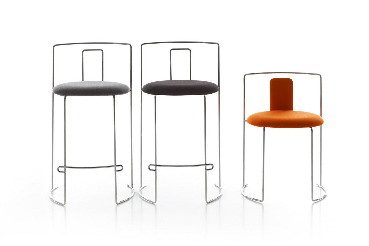 W58 Gaja Bar Stool by Kazuhide Takahama for Cassina