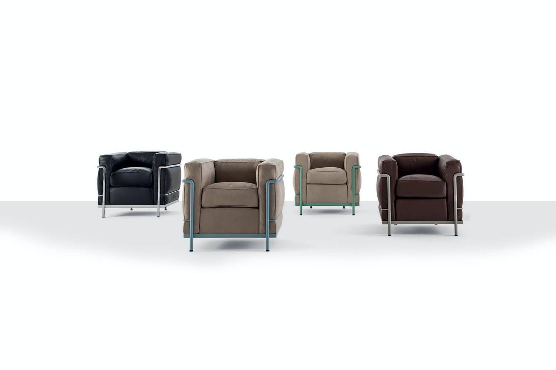 lc2 sofa by le corbusier pierre jeanneret charlotte. Black Bedroom Furniture Sets. Home Design Ideas