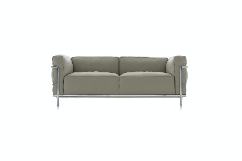 Lc3 Sofa Le Corbusier Style Lc3 3 Seater Grande Sofa Swiveluk Com Thesofa