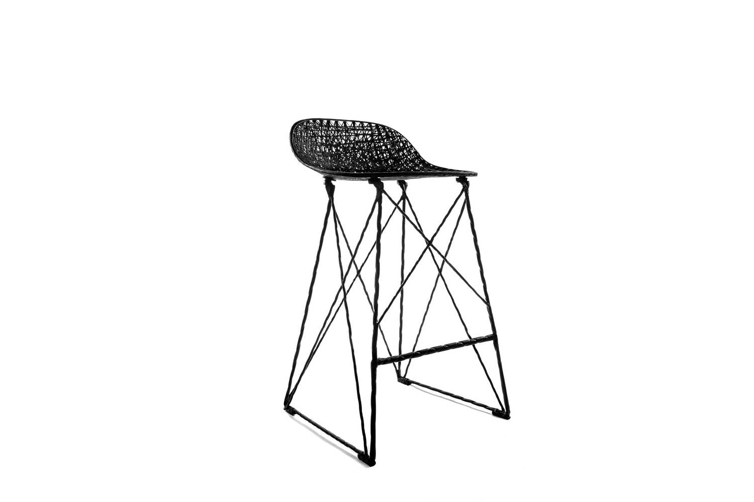 Carbon Bar Stool Low by Bertjan Pot & Marcel Wanders for Moooi