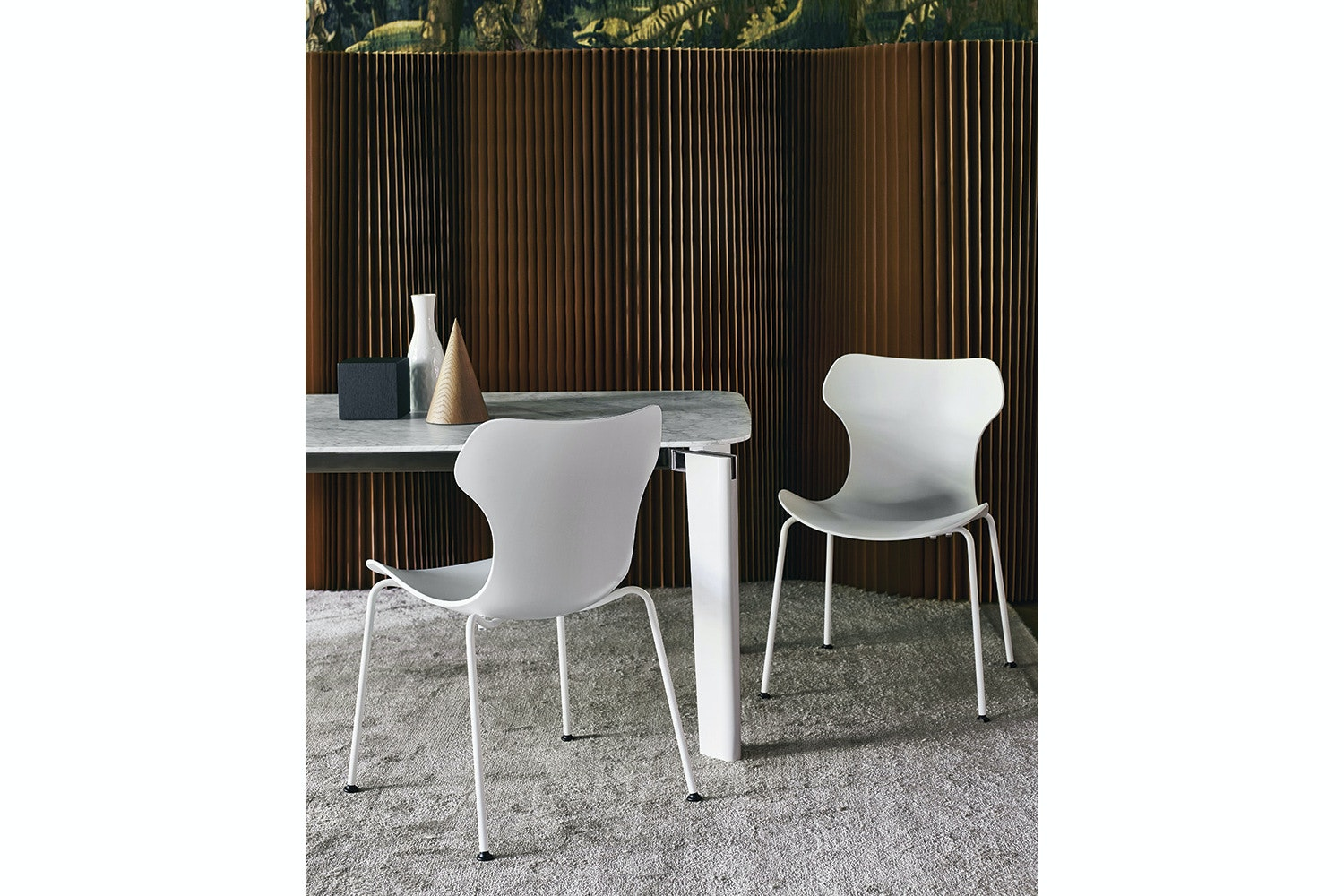Papilio Shell Chair With Steel Legs   White Shell