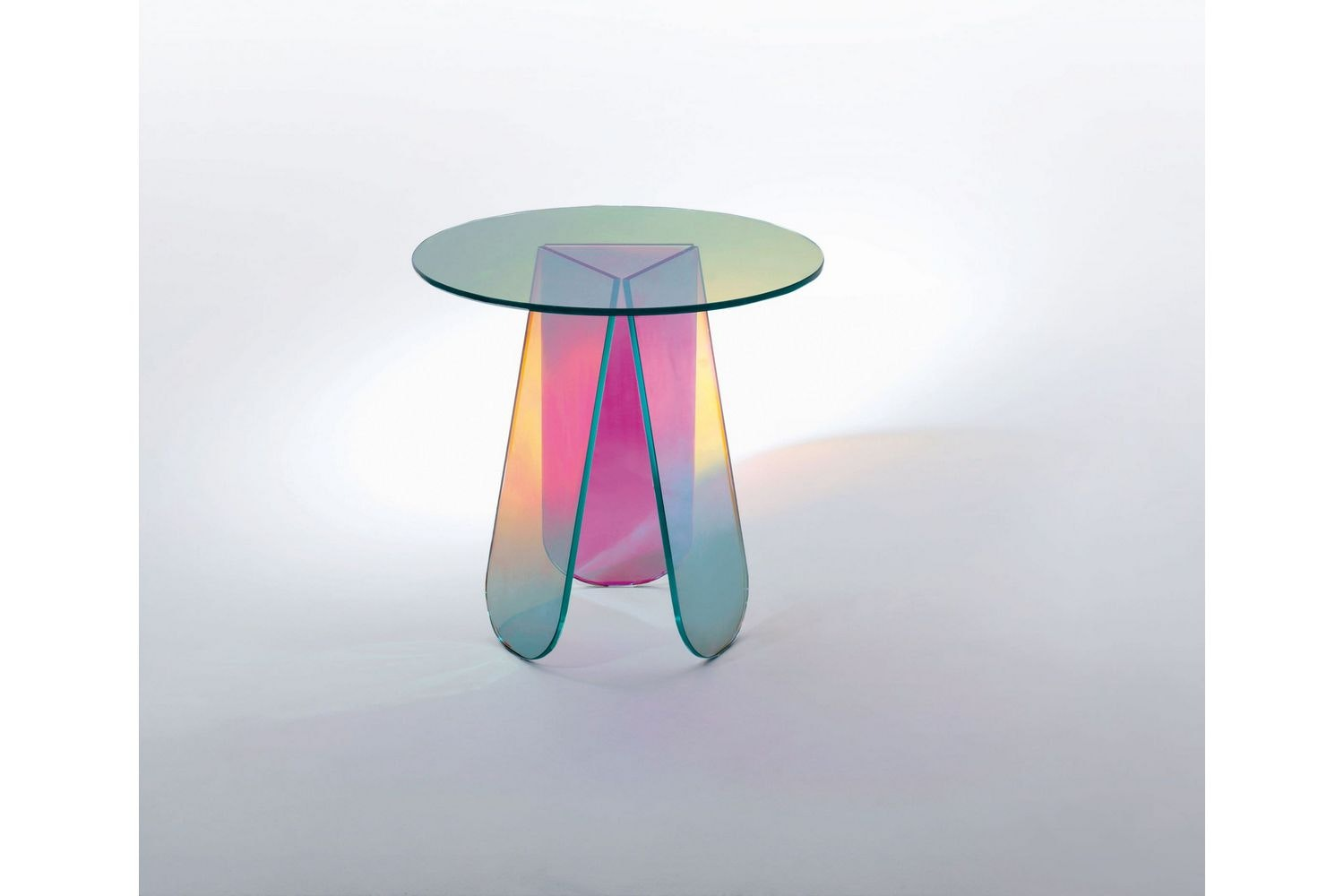 Shimmer Side Table by Patricia Urquiola for Glas Italia