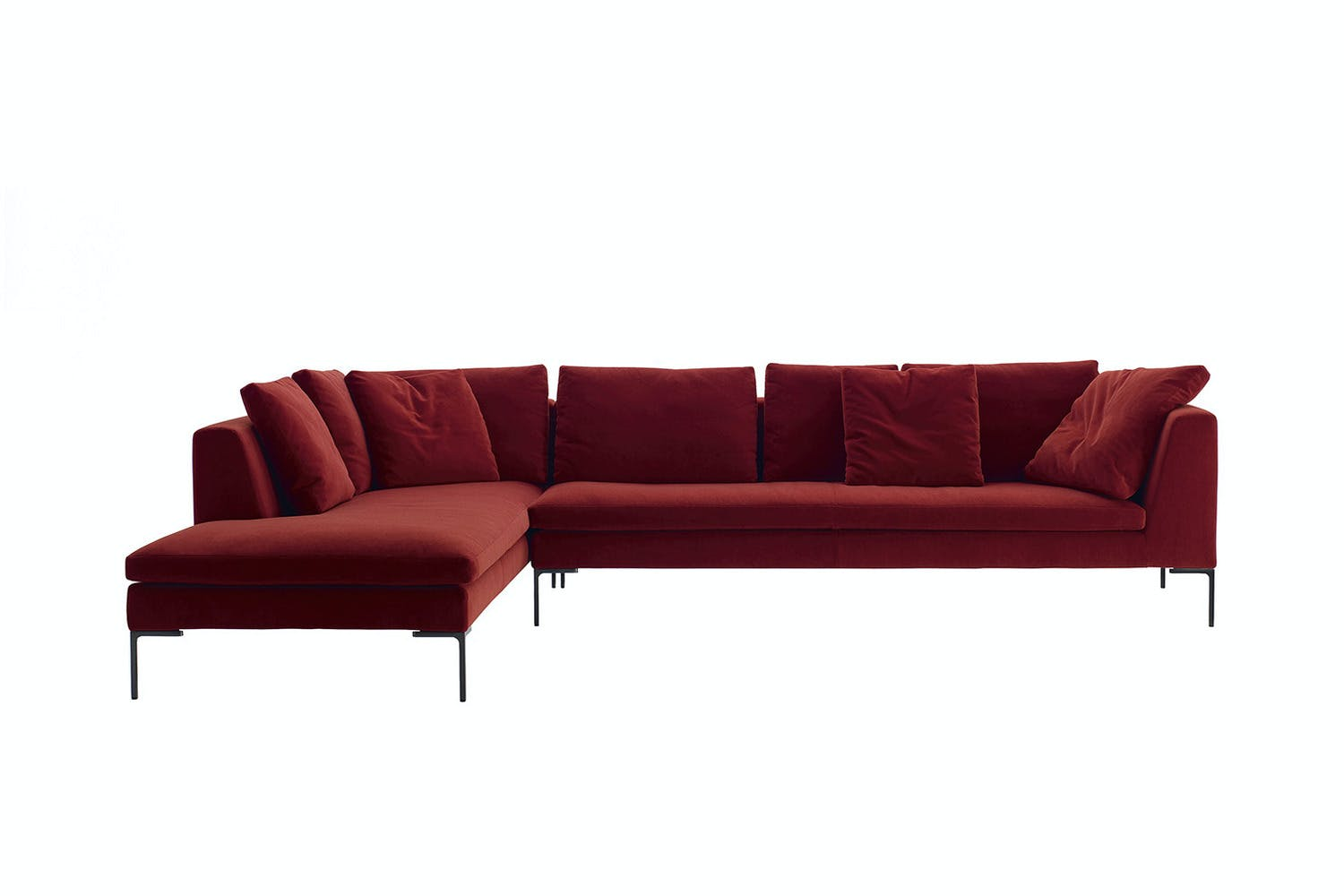 charles sofa with left chaise fabric by antonio citterio. Black Bedroom Furniture Sets. Home Design Ideas