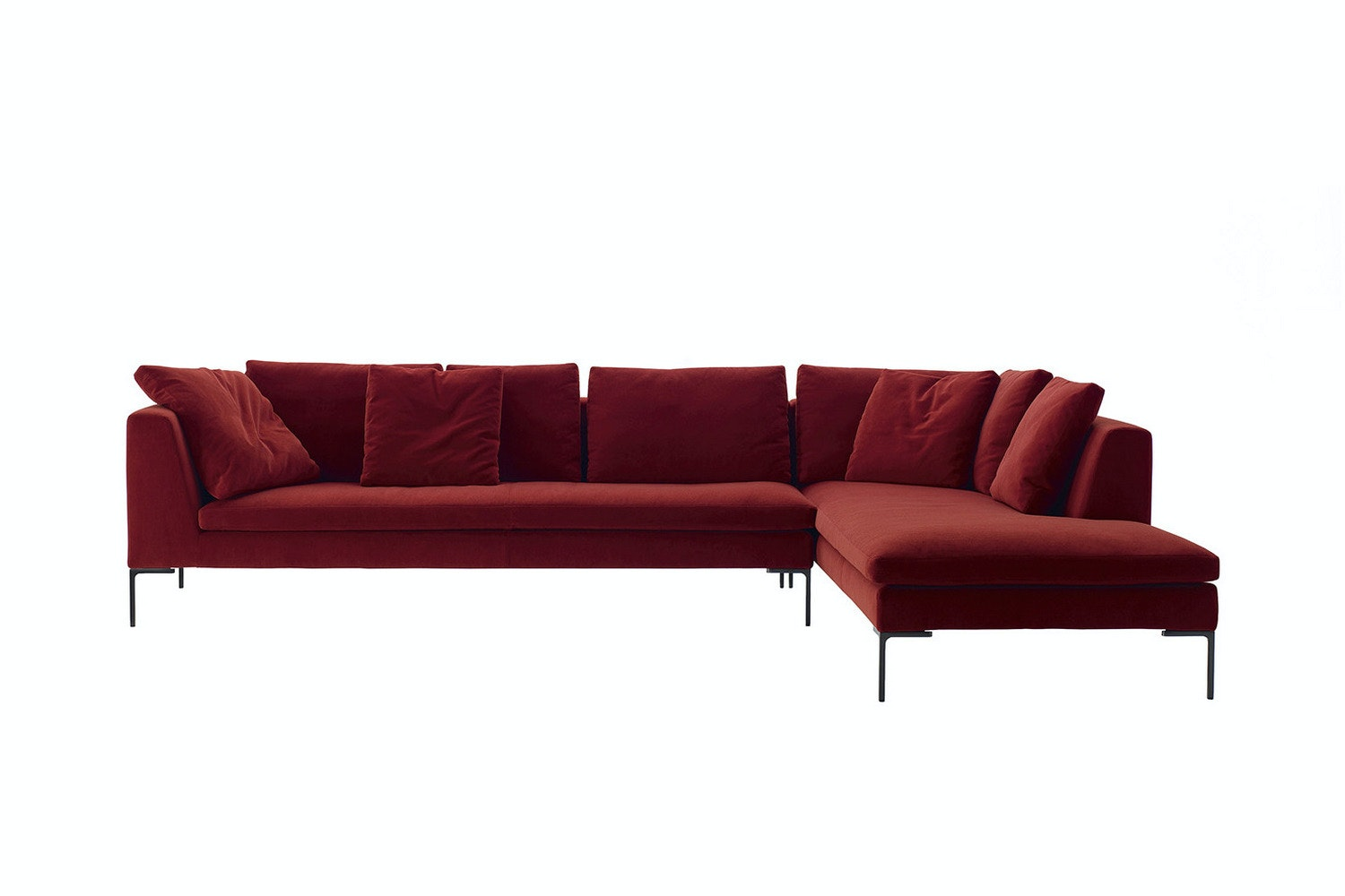 Charles Sofa with Right Chaise - Fabric by Antonio Citterio for B&B Italia