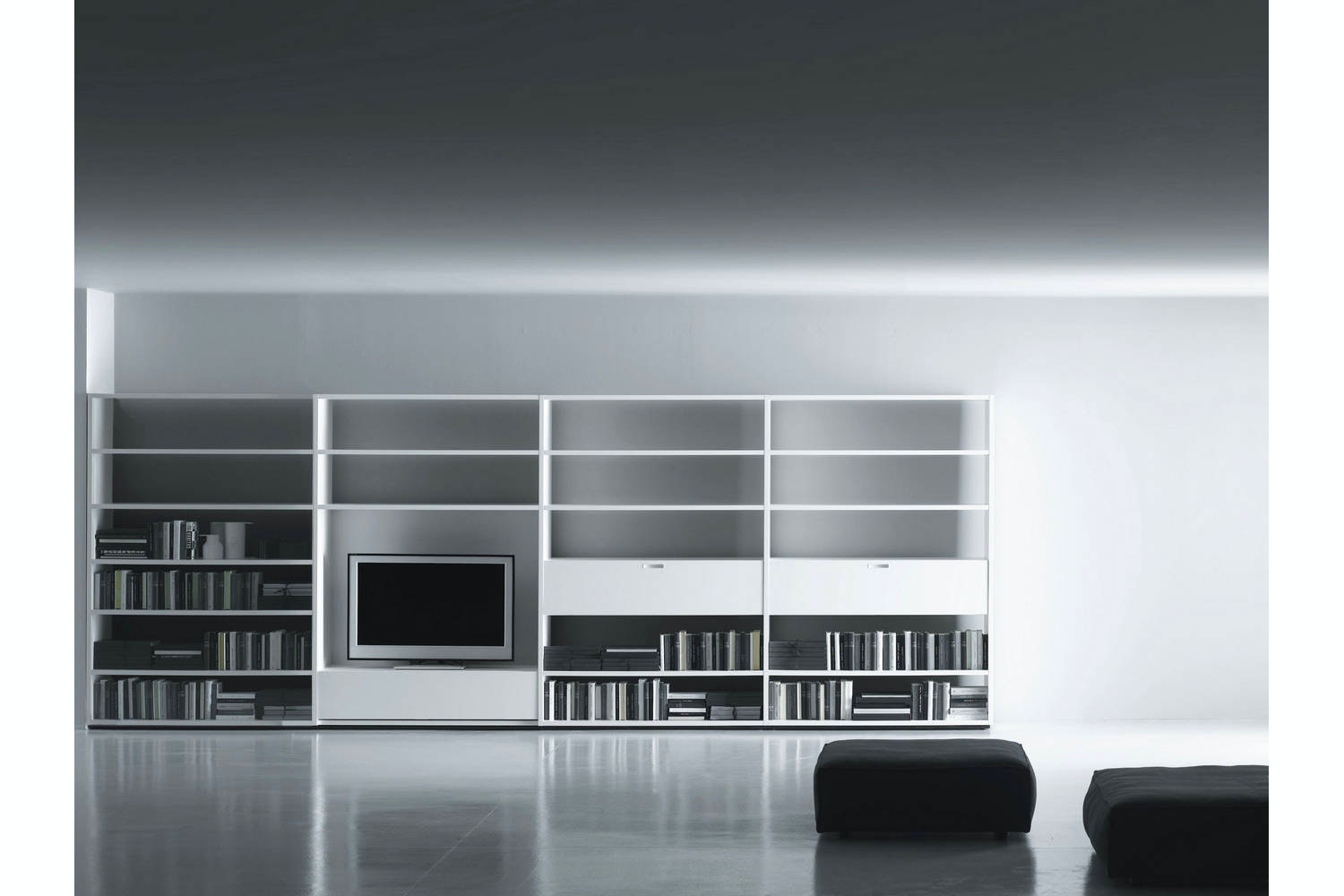 System Multifunctional - TV/Hi-Fi by Piero Lissoni for Porro