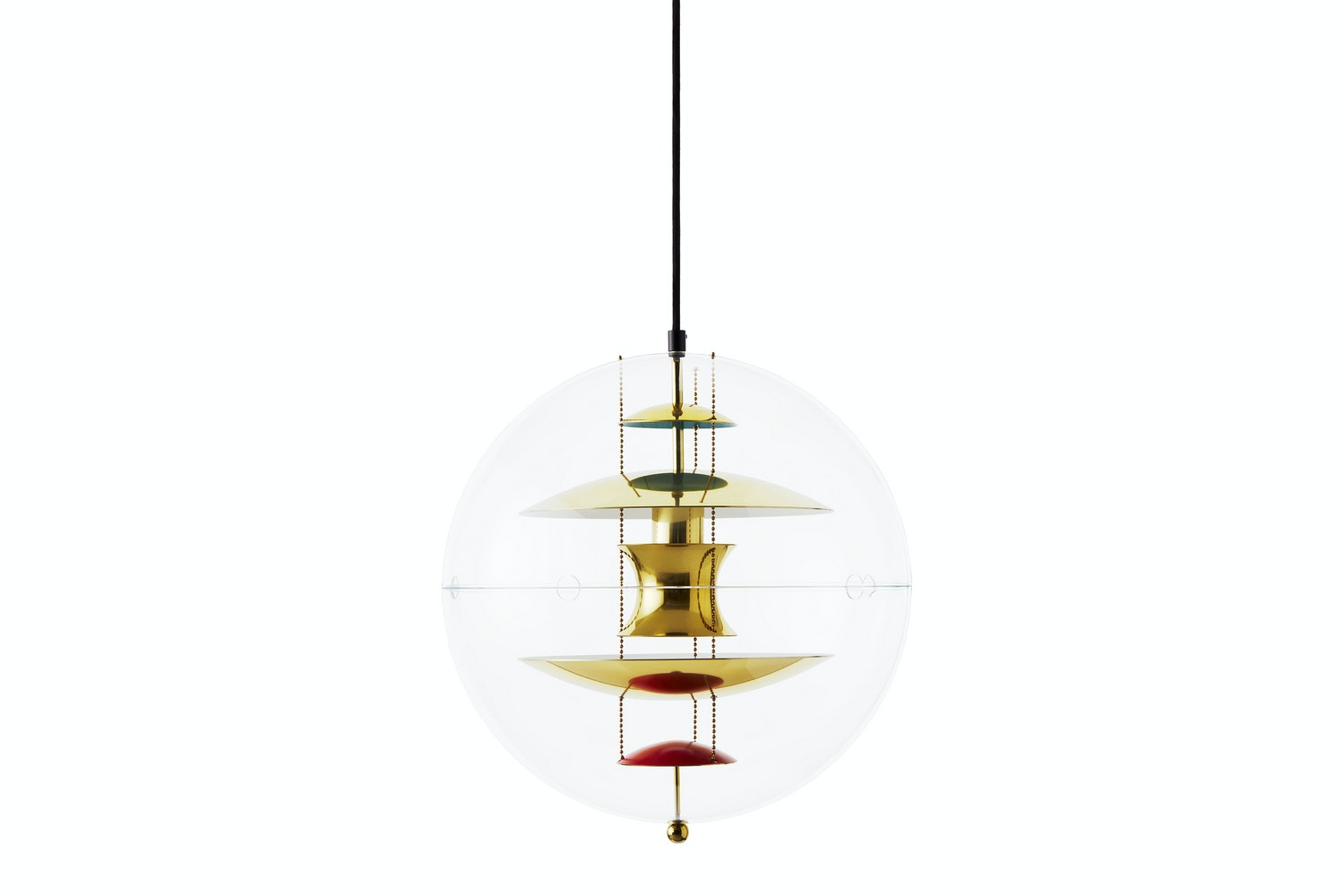 VP Globe Small Pendant - Brass by Verner Panton for Verpan