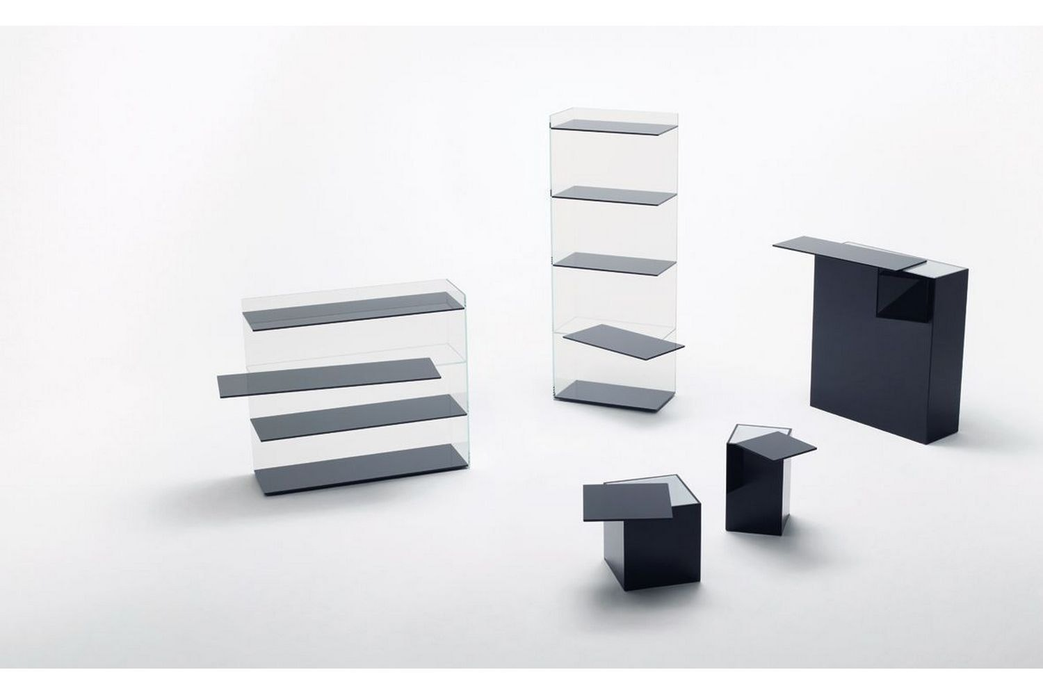 Slide Librerie Bookcase by Nendo for Glas Italia