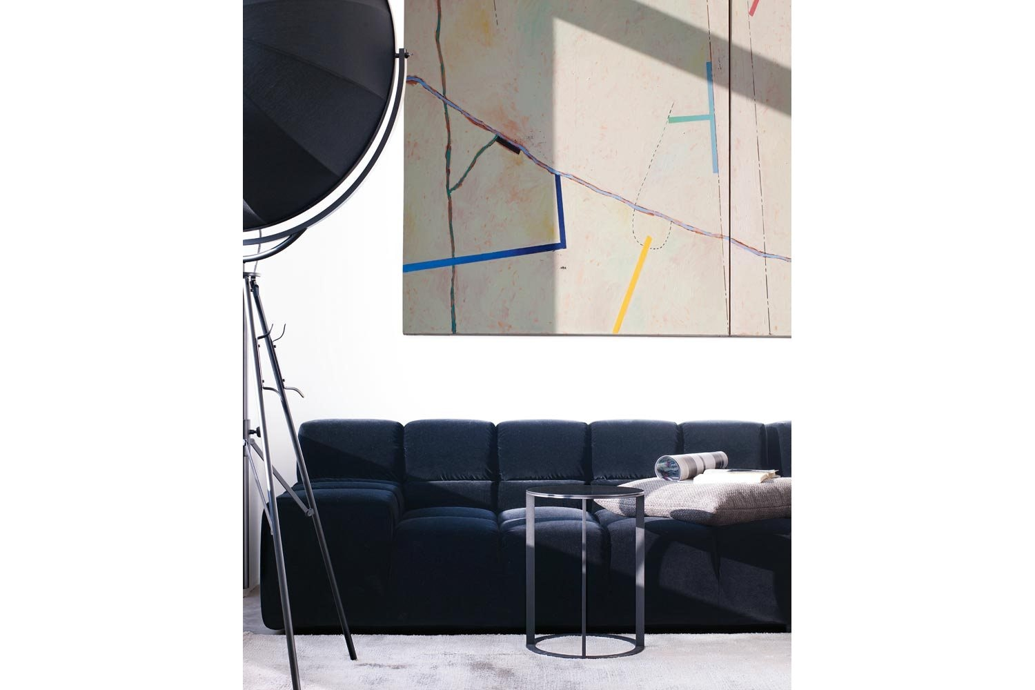 Tufty-Time Sofa with Right Chaise by Patricia Urquiola for B&B Italia