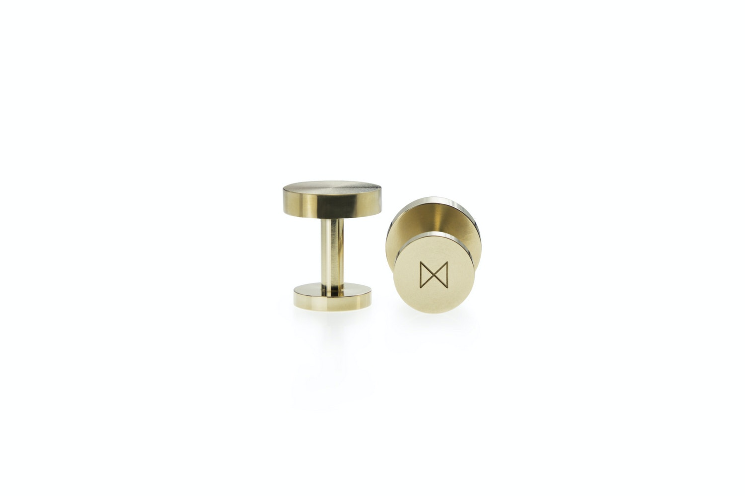Cufflinks - Machined Brass by Alice Made This for Minimalux