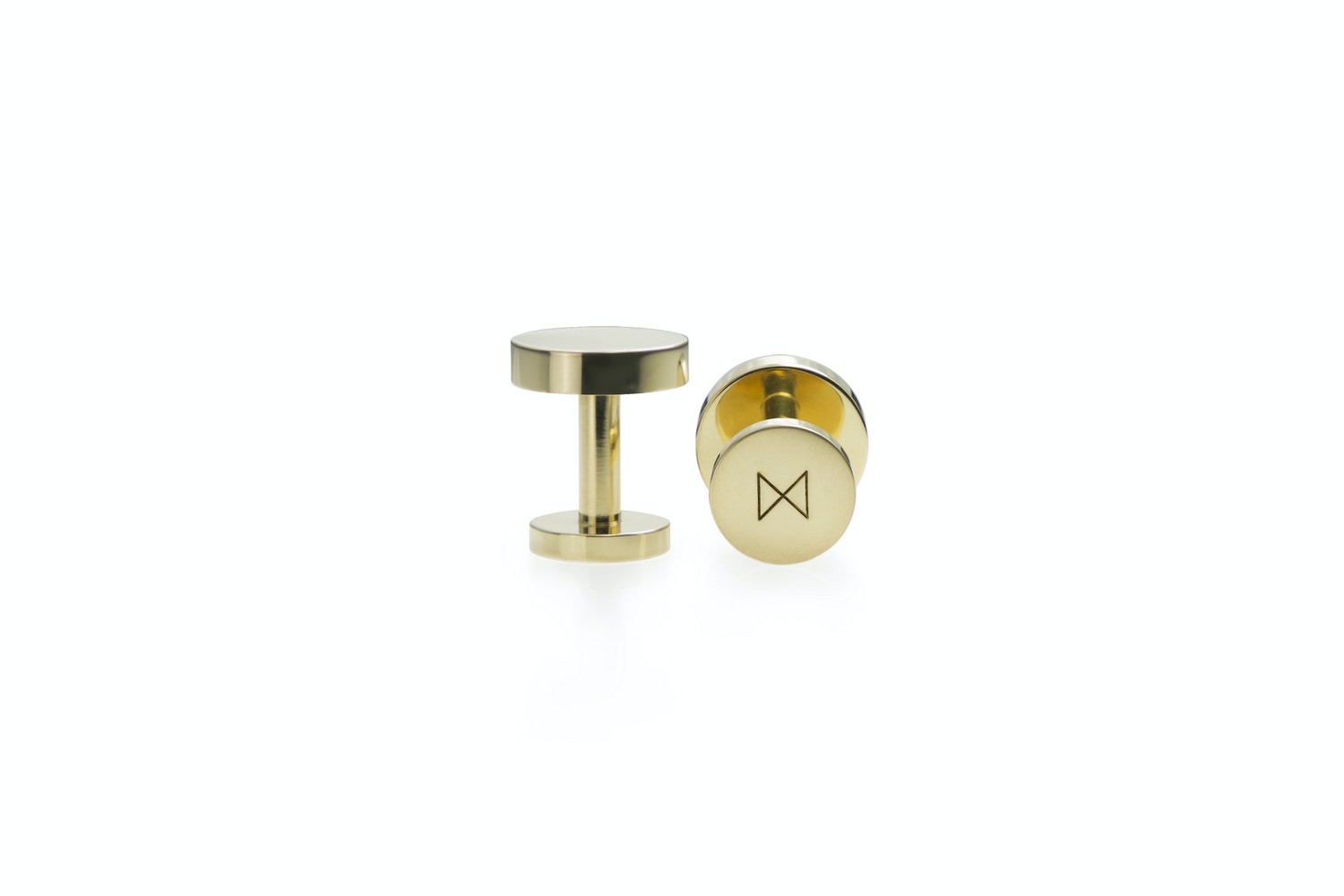Cufflinks - Polished Brass by Alice Made This for Minimalux