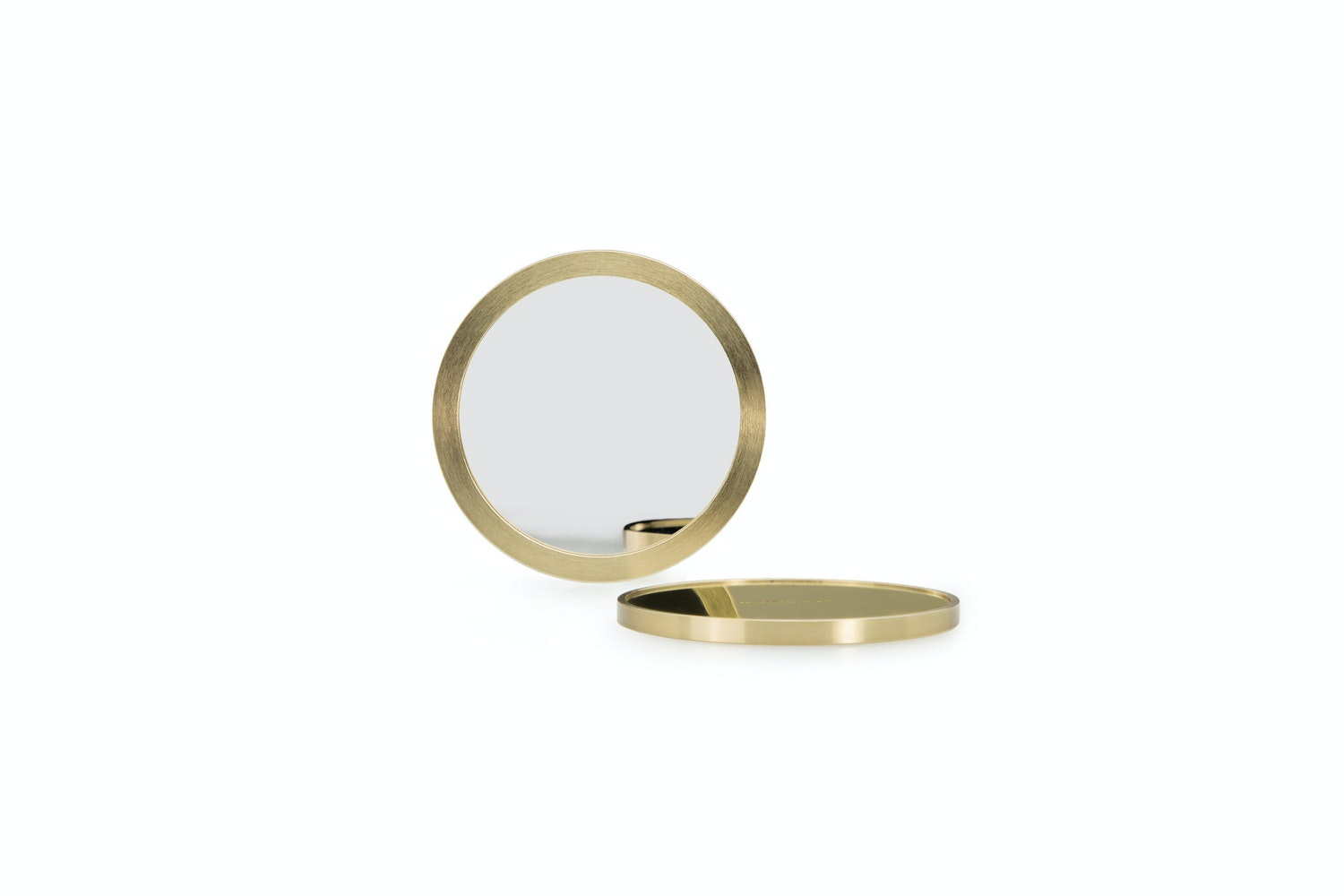Pocket Mirror with Sleeve - Machined Brass by Minimalux