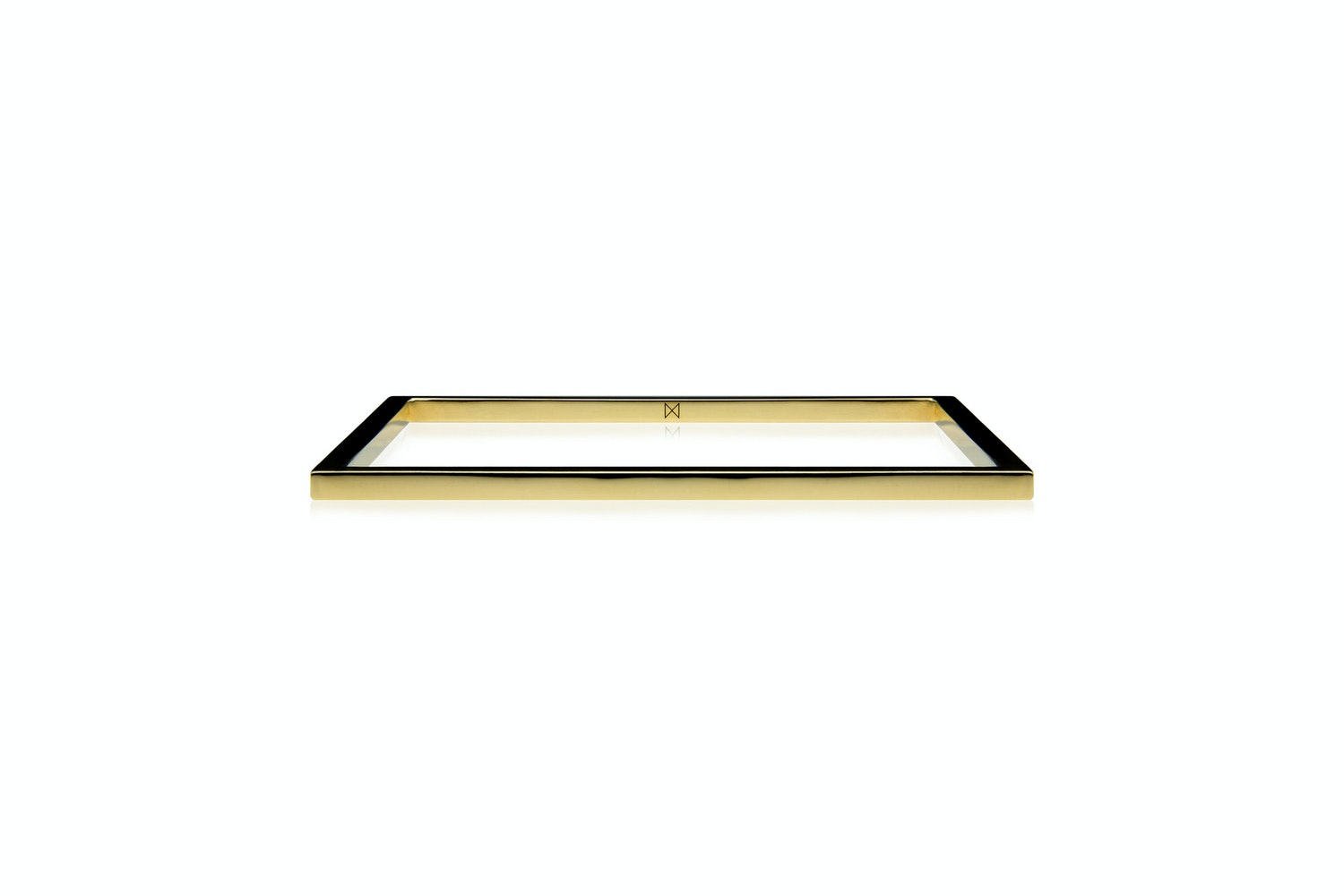 Square Bangle - Polished Brass by Minimalux