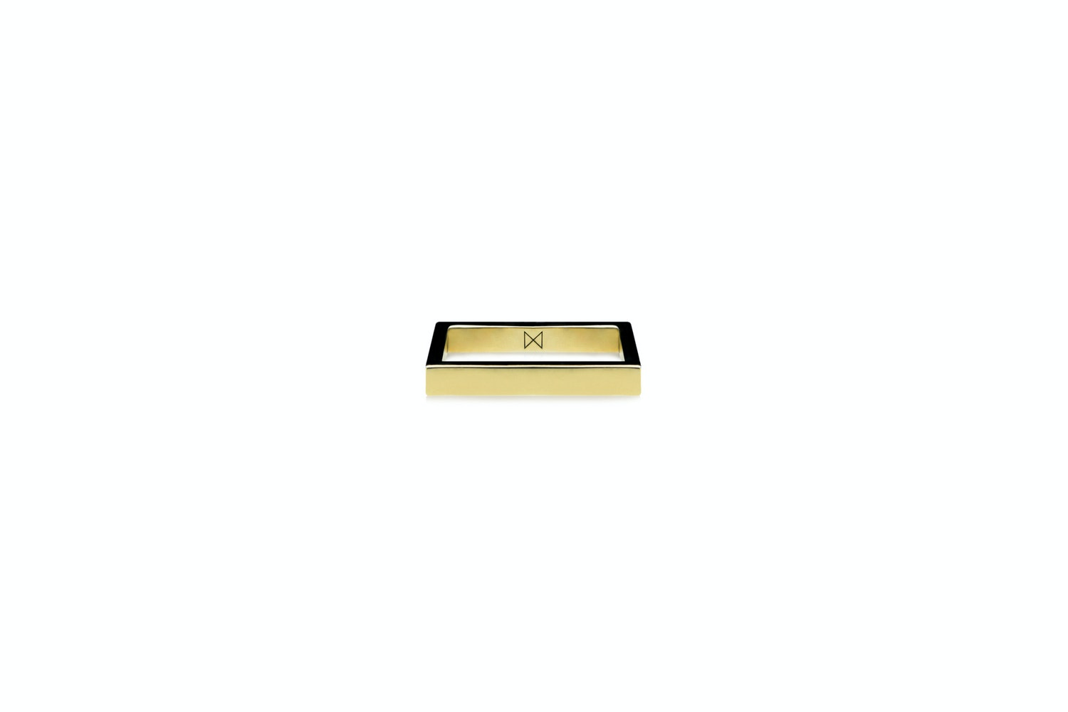 Square Ring (Medium) - Polished Brass by Minimalux