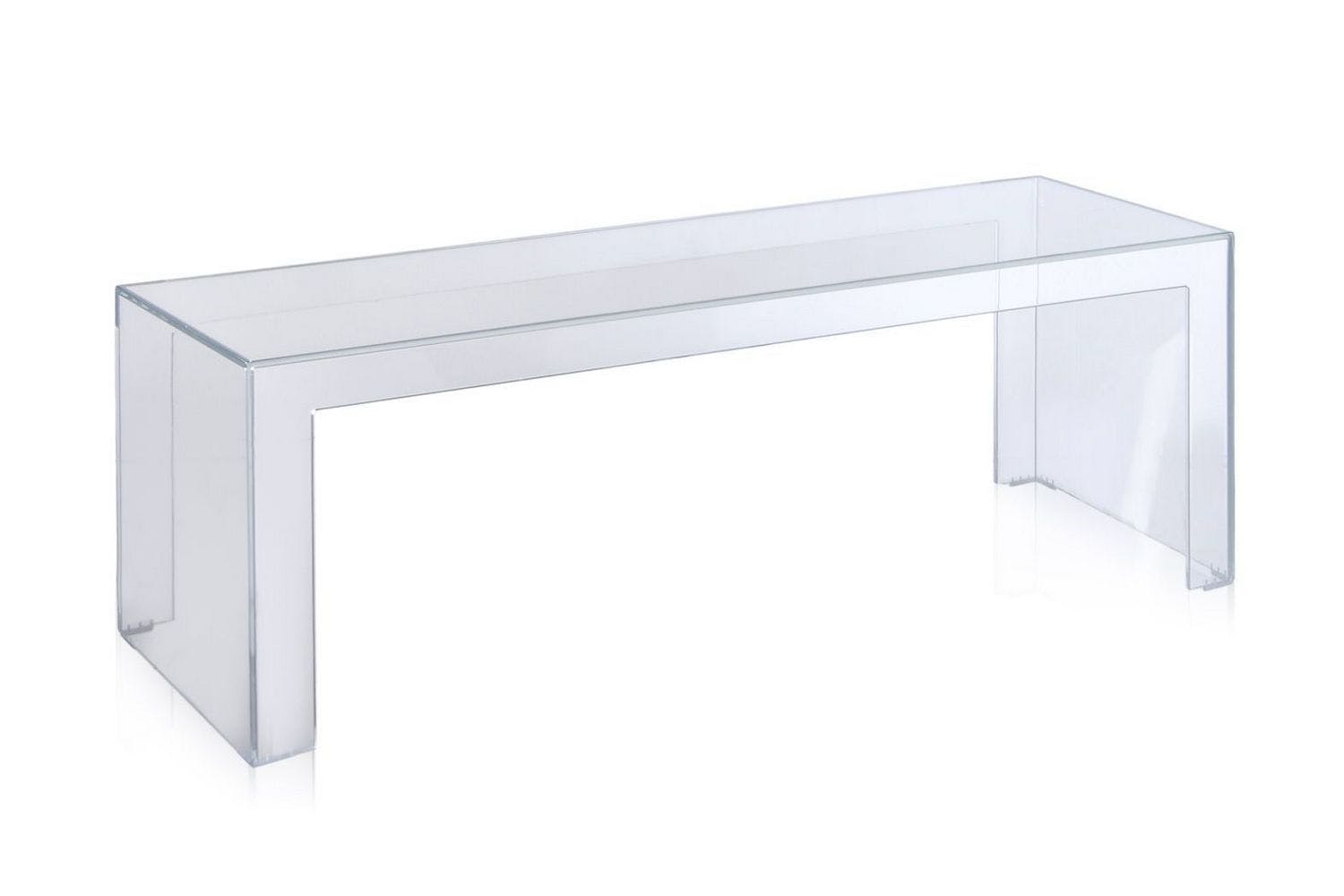 Invisible Side Table High By Tokujin Yoshioka For Kartell Space - Kartell invisible coffee table