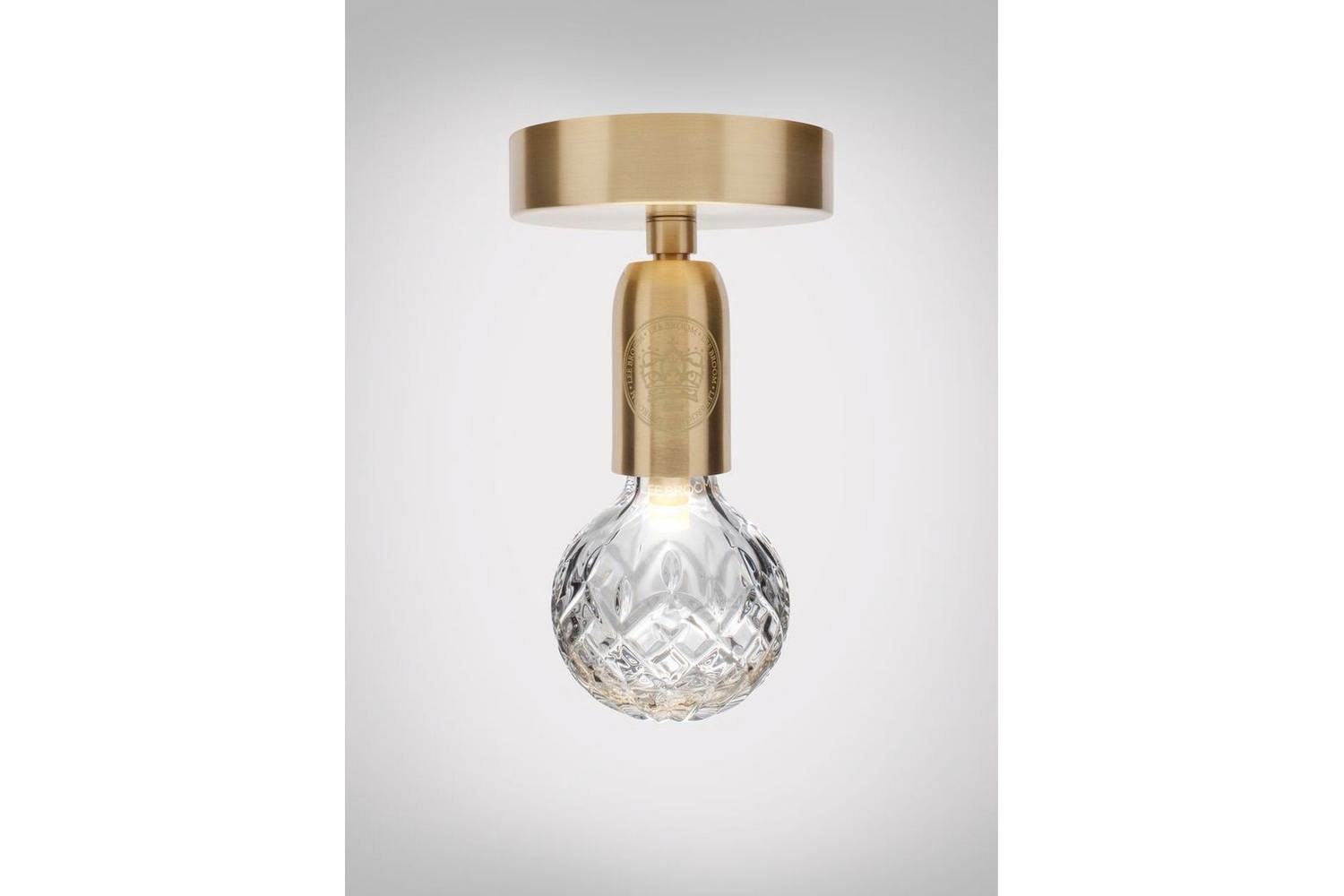 Clear Crystal Bulb Ceiling Lamp - Brushed Brass by Lee Broom