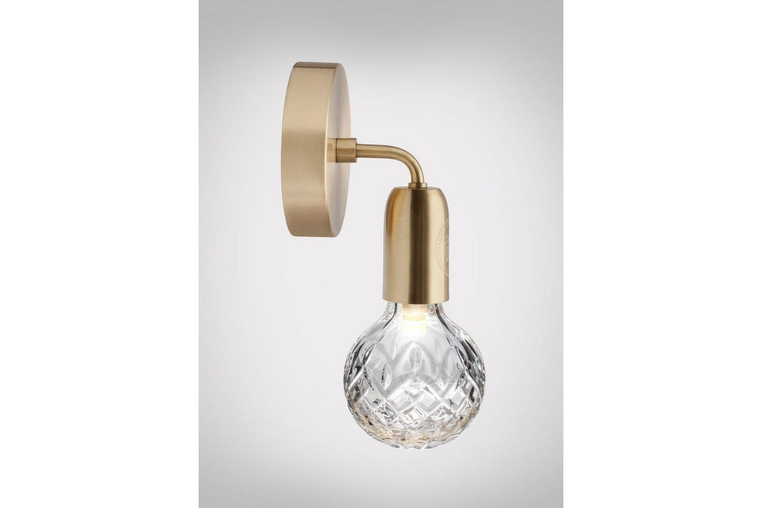 Clear Crystal Bulb Wall Lamp - Brushed Brass by Lee Broom