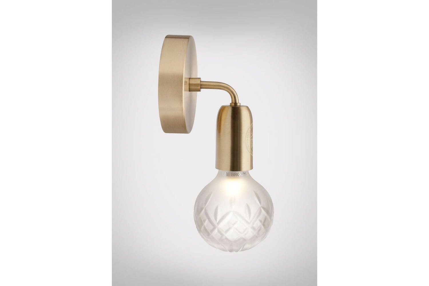 Frosted Crystal Bulb Wall Lamp - Brushed Brass by Lee Broom