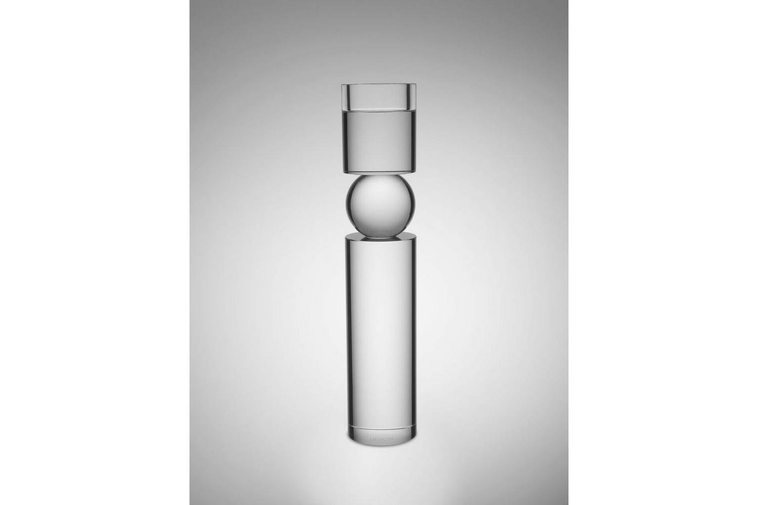 Fulcrum Candlestick Large - Clear by Lee Broom