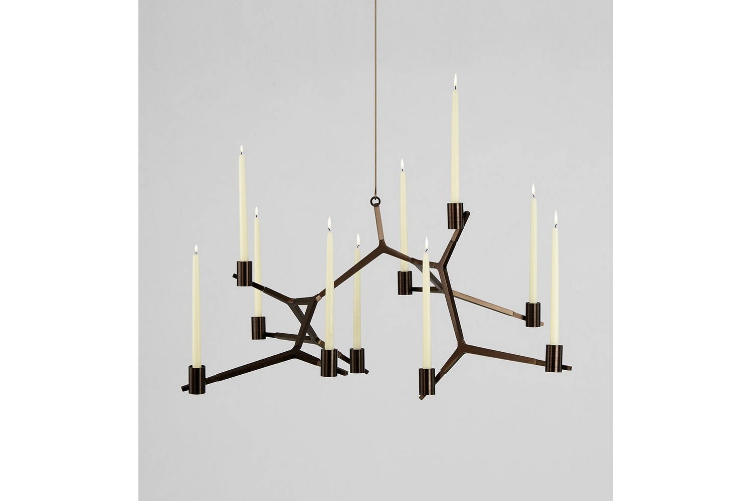 Agnes Hanging Candelabra - 10 Candles by Lindsey Adams Adelman for Roll & Hill