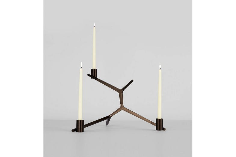 Agnes Table Candelabra - 3 Candles by Lindsey Adams Adelman for Roll & Hill